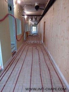Chape plancher chauffant eau C1-E1-3